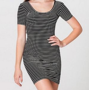 American Apparel Striped Bodycon Dress